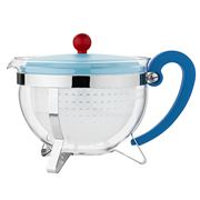 Bodum - 70 Years Chambord Teapot Pale Blue & Red