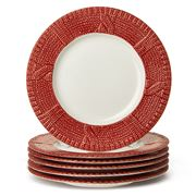 Yedi - Sweater Red Dessert Plate Set 6pce