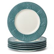 Yedi - Sweater Blue Dessert Plate Set 6pce