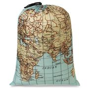 Kikkerland - Maps Travel Laundry Bag