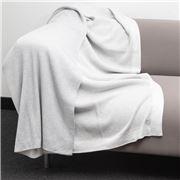 Bemboka - Pure Soft Cotton Throw Reversible Rib Dove/Oyster