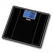 Tanita - Digital Glass Bathroom Scale HD-382 Metallic Black