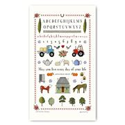 Rodriquez - Red Tractor Designs Farm Sampler Tea Towel