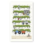 Rodriquez - Red Tractor Designs Vintage Crop Tea Towel