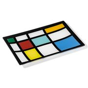PO Design - Mondrian Ring Lattice Medium Glass Platter