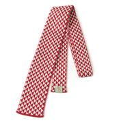 Otto & Spike - Double Negative Merino Tie Red & White
