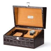 Renzo - Crocodile Leather Men's Accessory & Jewellery Box