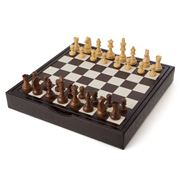 Renzo - Crocodile Leather Chess Set