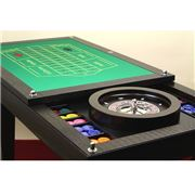 Renzo - Brown Ostrich Multi Game Roulette Table