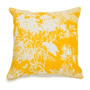 Florence Broadhurst - Spring Floral Mustard Feather Cushion