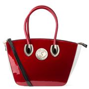 Serenade Leather - Ace Red & White Diamante Shoulder Bag