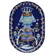 iittala - Taika Blue Oval Serving Platter