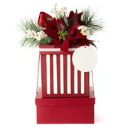 Boz Christmas - Traditional Red Two-Tier Hamper