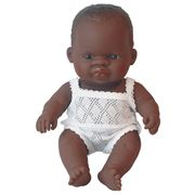 Miniland - African Girl Baby Doll 21cm