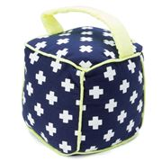 Annabel Trends - Doorstop Cube Navy & Green