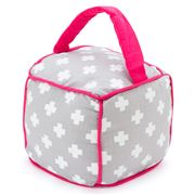 Annabel Trends - Doorstop Cube Grey & Pink