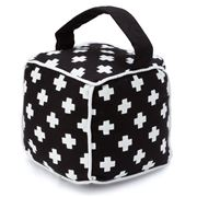 Annabel Trends - Doorstop Cube Black & White