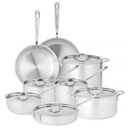 All-Clad - Stainless Steel Cookware Set 8pce