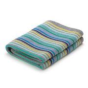 D Lux - Rainbow Knit Blue Pure Cotton Bassinet Blanket