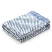 D Lux - Piccolo Reversible Blue Cot Blanket