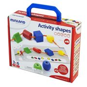 Miniland - Activity Shapes Threading Game