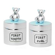 Whitehill - Bear Blue First Tooth & First Curl Box Set 2pce