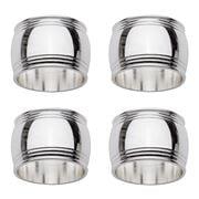 Whitehill - Bulge Napkin Ring Set 4pce