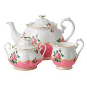 Royal Albert - Cheeky Pink Teapot Set 3pce