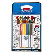 Melissa & Doug - Colour By Numbers Blue Colouring Pad