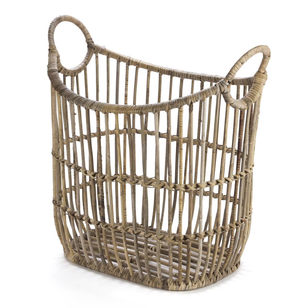 New Ivory House Small Rattan Laundry Basket Ebay