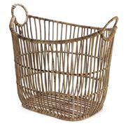 Ivory House - Large Rattan Laundry Basket