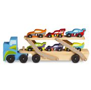 Melissa & Doug - Mega Race Car Carrier Set 7pce