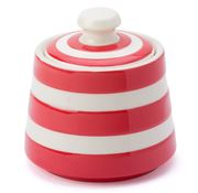 Cornishware - Red Covered Sugar Bowl