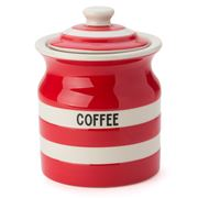 Cornishware - Coffee Storage Jar Red 840ml