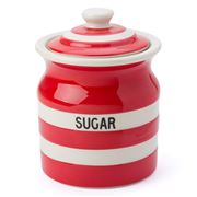 Cornishware - Red Sugar Storage Jar 840ml
