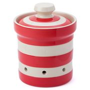 Cornishware - Red Garlic Keeper