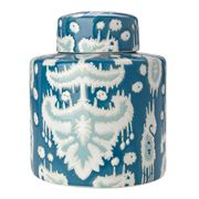 Avalon - Blue Ikat Jar