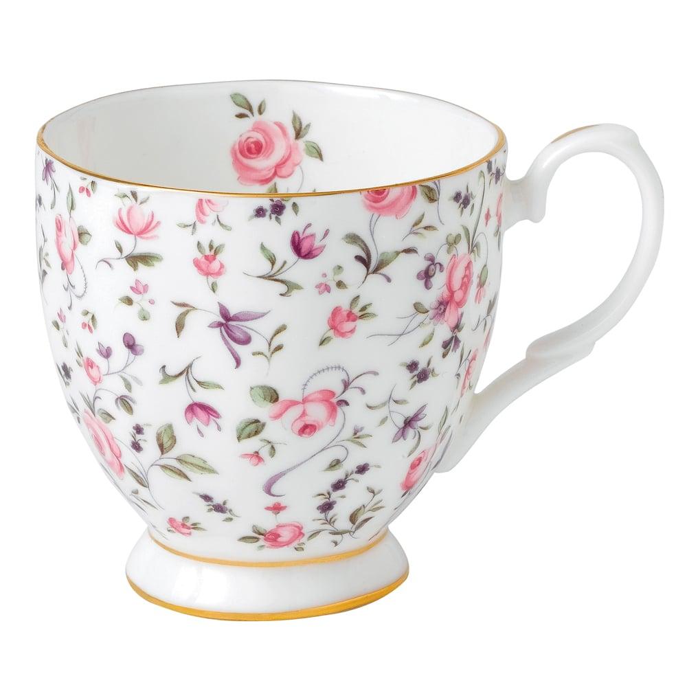 royal albert rose confetti vintage footed mug peter 39 s. Black Bedroom Furniture Sets. Home Design Ideas
