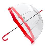 Clifton - Birdcage Umbrella with Scarlet Border