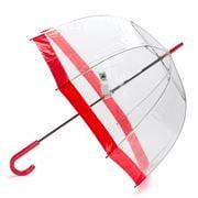 Clifton - Birdcage Umbrella with Scarlet Border