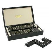 Renzo - Swarovski Crystal Domino Set in Leather Case