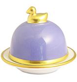 Limoges - Legle Provencal Blue Butter Dish