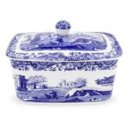 Spode - Blue Italian Butter Box with Lid
