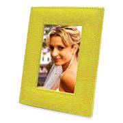 Plata Lappas - Leather Photo Frame Yellow 17x12cm
