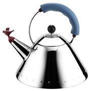 Alessi - Michael Graves Blue Kettle with Bird Whistle