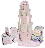Boz Baby - Pink Baby Tower Hamper