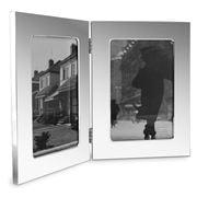 Whitehill - Studio Photo Frame Double Plain silver 13x18cm