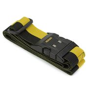 Korjo - Deluxe Luggage Strap with Combination Lock Yellow