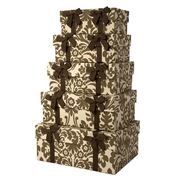 Storage Sense - Nesting Damask Storage Box Set 5pce