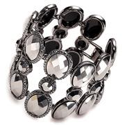 Carolee - Lux Shimmer Hematite Wide Bracelet